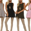 Isaac Liev Women's Sleeveless Round Neck Flowy Tunic