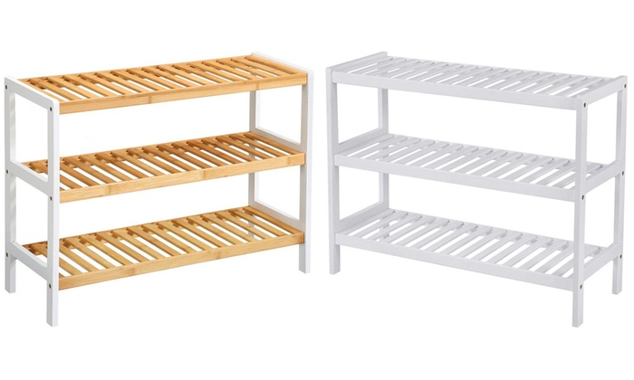Three-Tier Bamboo Wooden Shoe Rack