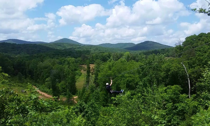 Cherokee Valley Ranch - Jasper: Zipline and Dry-Snow Tubing and Tobogganing for Two or Four at Cherokee Valley Ranch in Jasper (Up to 45% Off)