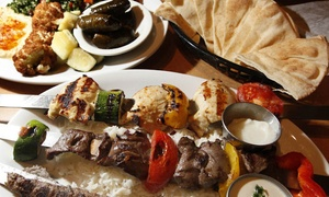38% Off Platter for Two People at Leena's Mediterranean Grill at Leena's Mediterranean Grill, plus 6.0% Cash Back from Ebates.