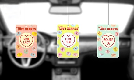 12, 24 or 48 Swizzles Matlow Retro Love Hearts Car Air Fresheners from £3.98 With Free Delivery