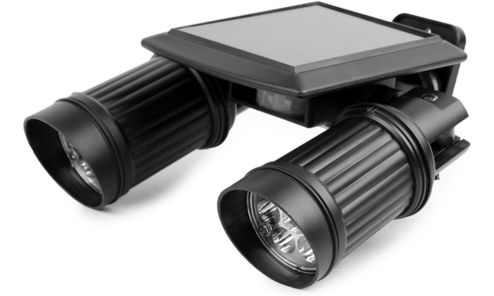 Up to 56 off on imountek solar security light groupon goods imountek solar motion activated twin head security light aloadofball Gallery