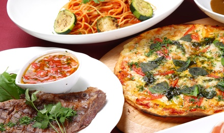 Pizza, Pasta, and Italian Cuisine for Two or Four at Prime Spot Restaurant and Pizza (44% Off)