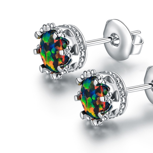 c33e9fa32 Up To 71% Off on Peermont Black Opal Earrings   Groupon Goods