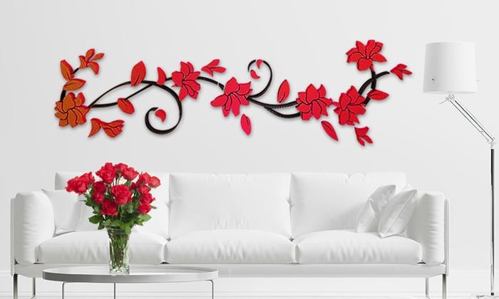Adesivo 3D a fantasia floreale