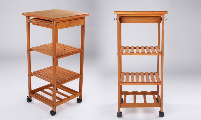 Rolling Kitchen Island Cart Table Storage Rack ...