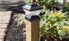 Solar Powered LED Post Lantern Head 2-Pack
