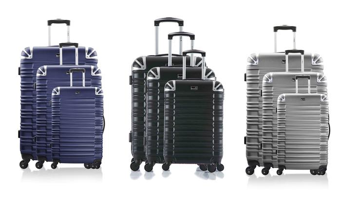 Ensemble de 3 valises ABS Bluestar collection Lima et pèse bagage offert coloris au choix à 9490 € (79% de rduction)