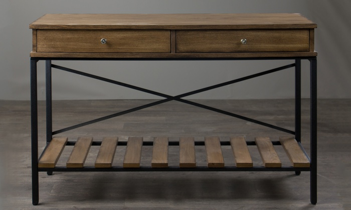 Uriah Vintage Industrial Console Table Groupon