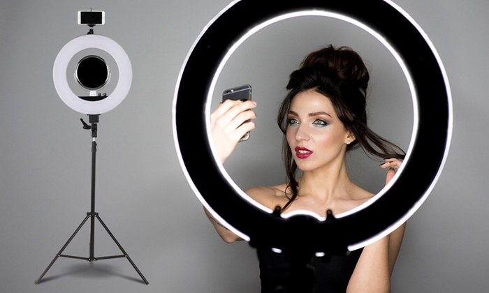 Dimmable 19 Quot Led Ring Light Groupon Goods