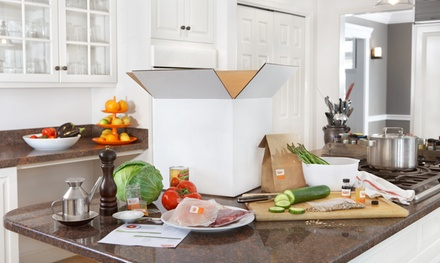 [Delivery of Three, Four, or Five Meal Kits, Feeding Two or Four People from Just Add Cooking (Up to 41% Off) Image]