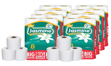 60 or 120 Two Ply Jasmine Toilet Paper Rolls