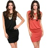 Women's Embellished Sheath Dress With Lace and Stud Details