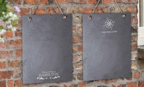 Personalized Slate Memo Boards or Serving Tray