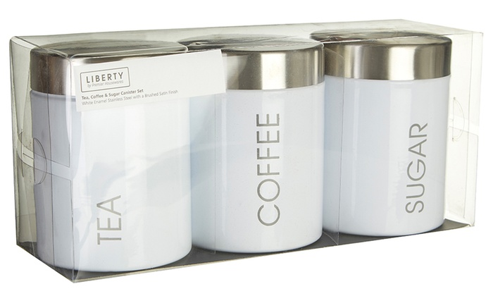 Tea Coffee And Sugar Canister Set Groupon Goods