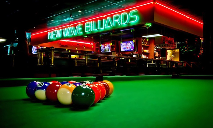 New Wave Billiards - University Park: $24 for Two Hours of Pool for Up to Four with Food and Beer at New Wave Billiards ($40.99 Value)