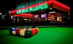 New Wave Billiards: $22 for Two Hours of Pool for Up to Four with Food and Beer at New Wave Billiards ($40.99 Value)