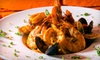 Amami Famous Italian Restaurant - Flamingo / Lummus: Prix Fixe Pasta Dinner for Two or Four with Wine and Dessert at Amami Famous Italian Restaurant (Up to 52% Off)