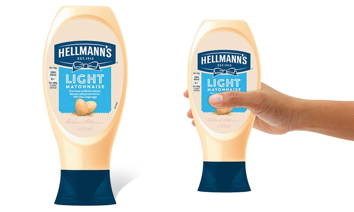 Hellmann's Light Squeezy Mayonnaise 430ml Eight-Pack