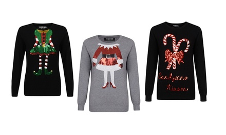 Clearance Sequin Christmas Jumper