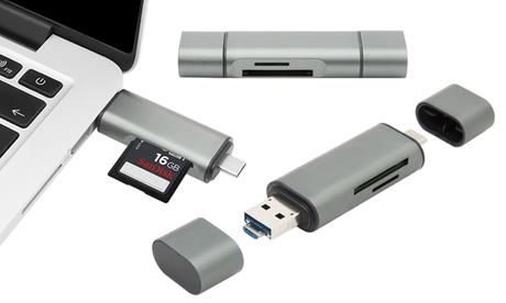 1 o 2 lectores de tarjetas Micro USB tipo C