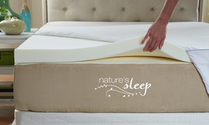 Nature's Sleep HD Visco Memory-Foam Mattress Topper with Cover