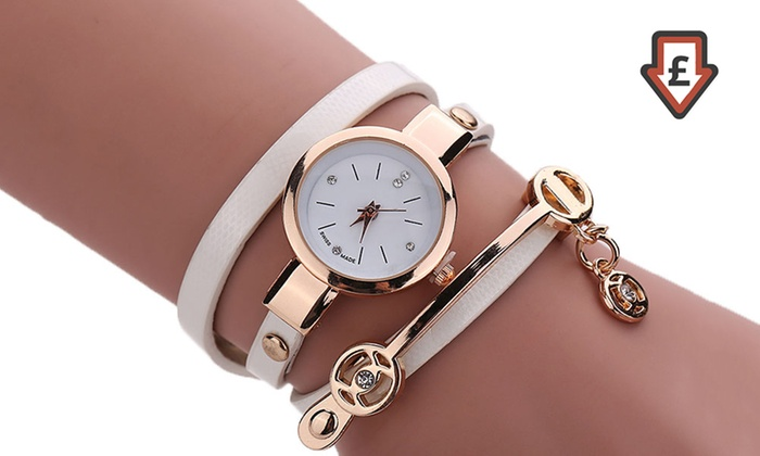 Snake Strap Wrap Watch with Crystals from Swarovski® from £4