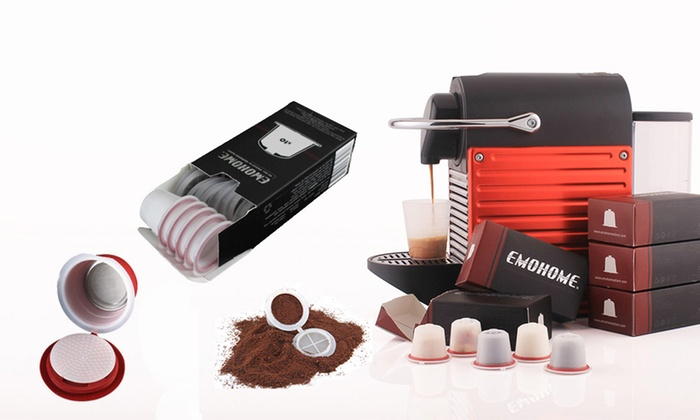 Ever Mercantile Limited: From $17 for Emohome Refillable Nespresso Machine Coffee Capsules
