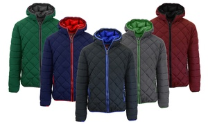 Spire By Galaxy Men's Quilted Puffer Jackets With Hood