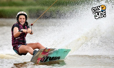 Cable Wakeboarding & Kneeboarding: 2 Hrs for 1 ($24) or 2 ($47), 1 Day for 1 ($34) or 2 Ppl ($67) at Bayside Wake Park
