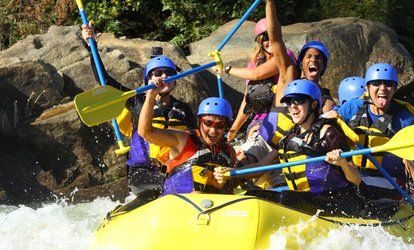 Half- or Full-Day Whitewater <strong>Rafting</strong> with Hot Barbecue Lunch from Action Whitewater Adventures (Up to 51% Off)