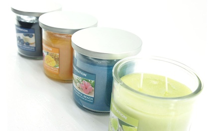 Four Yankee Candle Summer Selection Twin Wick Jars