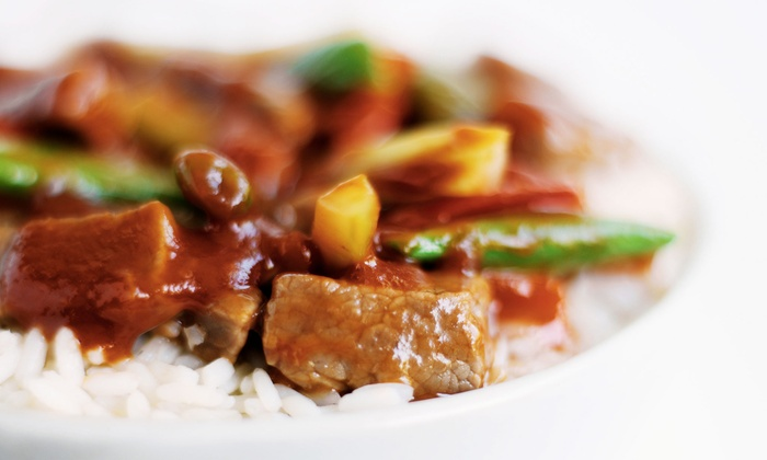 New St. Louis Wok - Tower Grove East: Chinese Meal with Entrees and Fountain Sodas for Two or Four at New St. Louis Wok (Up to 50% Off)