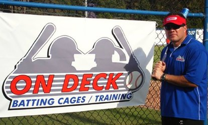 image for $12.50 for One 30-Minute <strong>Batting</strong>-Cage Session at On Deck <strong>Batting</strong> Cages ($20 Value)
