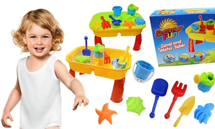 Kid's Sand and Water Table with Accessories