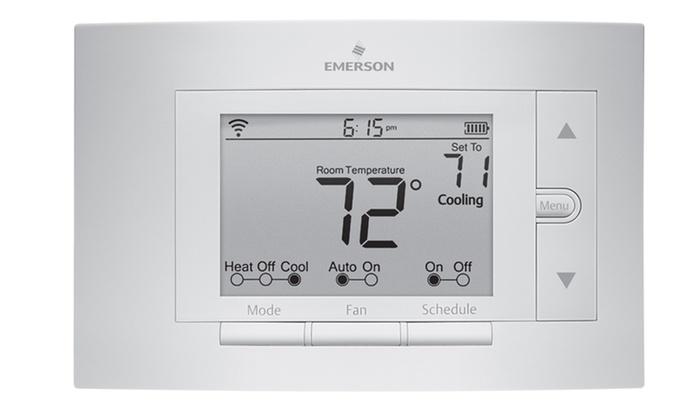 Emerson sensi wifi thermostat groupon for Emerson sensi