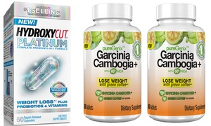 Hydroxycut Platinum (60-Count) and Puregenix Garcinia (120-Count) at Hydroxycut Platinum (60-Count) and Puregenix Garcinia (120-Count), plus 6.0% Cash Back from Ebates.