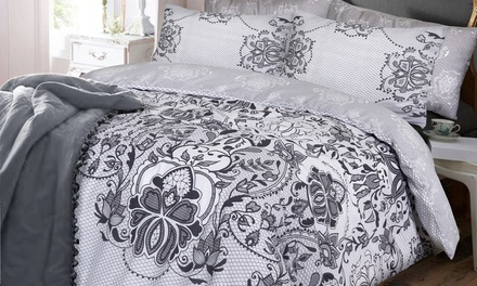 Pieridae BoldPainted Floral or LacePrinted Duvet Cover Set