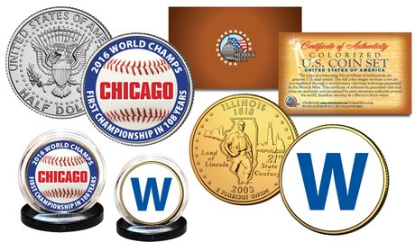 Chicago 2016 World Champions U.S. Genuine Legal Tender 2-Coin Set!