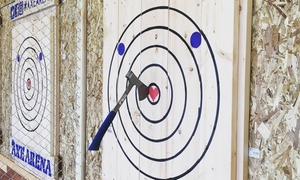 Up to 37% Off 90-Minute Axe Throwing Session at Axe Arena at Axe Arena, plus 6.0% Cash Back from Ebates.
