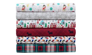Microfiber Holly Jolly Christmas-Themed Sheet Set