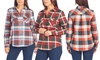 Women's 100% Cotton Plaid Shirt with Pockets