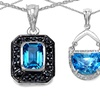 Blue Topaz Pendants in Sterling Silver