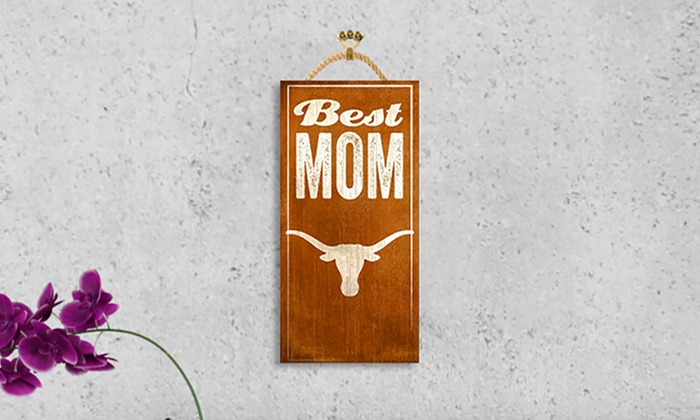 NCAA 12″x6″ Best Mom Sign