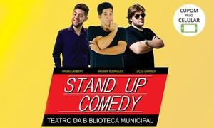 "Stand Up Comedy Guarulhos: ""Stand-up Comedy Guarulhos"" – Teatro da Biblioteca Monteiro Lobato: 1 ingresso"