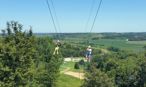 Up to 54% Off Zipline Rides at Mt. Crescent at Mt Crescent, plus 6.0% Cash Back from Ebates.