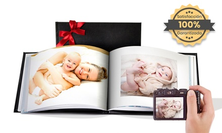 Álbum personalizado de fotos con tapa de cuero con PrinterPix (hasta 95% de descuento)