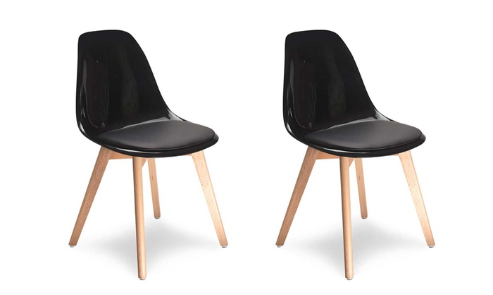 Chaises scandinaves transparentes groupon for Chaises scandinaves transparentes
