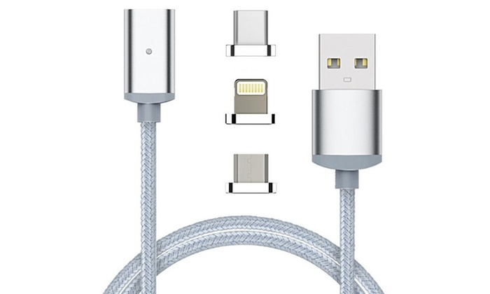 Idc Marketing: Magnetic Lightning Cable for Apple, Android and Type-C: One (from $12) or Two (from $19)