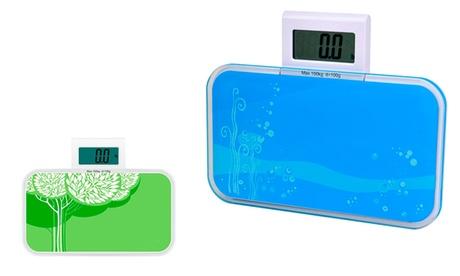 Báscula digital de baño con acabados en cristal